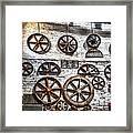 Wall Of Wheels Framed Print