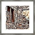 Walls Of The Heart Framed Print
