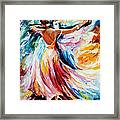 Waltz - Palette Knife Oil Painting On Canvas By Leonid Afremov Framed Print