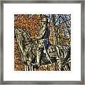 War Horses - Major General John Sedgwick Commanding Sixth Corps Autumn Gettysburg Framed Print