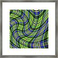 Warped Scott Ancient Green Tartan Framed Print