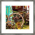 Warrenton Antique Days Wood Wheels And Wonders Framed Print
