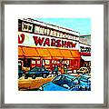 Warshaws Paintings Famous Fruit Store Main Street Montreal Art Prints Originals Commissions Cspandau Framed Print