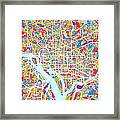 Washington Dc Street Map Framed Print