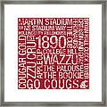 Washington State College Colors Subway Art Framed Print by Replay Photos