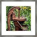 Water Pump Framed Print