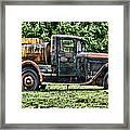 Water Truck Framed Print