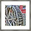 Water Wheel On Mill Framed Print