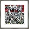 Water Wheel On Mill V2 Framed Print