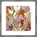 Watercolor Orchid Shadows Framed Print