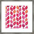 Watercolor Seamless Pattern. Colorful Framed Print