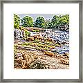 Waterfall In Contrast Framed Print