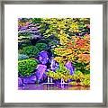 Waterfall In Fall Framed Print