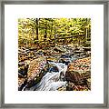 Waterfall In The Fall Nh Framed Print