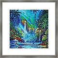 Waterfall Framed Print by Joseph   Ruff