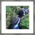 Waterfalls And Pools Maui Hawaii Framed Print