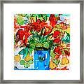 Waterglass Bouquet Framed Print