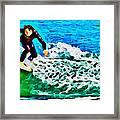 Wave Surfer Framed Print
