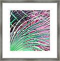 Waves Of Palm Framed Print