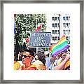 We Support Our Lgbtq Students Framed Print