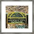 Welcome To Ellicott City Framed Print