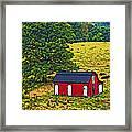 West Virginia Line Art Framed Print