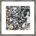 Wet Pebbles Framed Print by Margaret McDermott