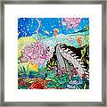Whaeel And The Sea Framed Print