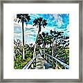 What A Beautiful Boardwalk Framed Print