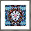 Wheel Kaleidoscope Framed Print