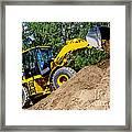 Wheel Loader Construction Site Framed Print