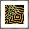 When Squares Merge Yellow Framed Print