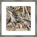 Where Often You And I Upon Fain Primrose Beds Were Wont To Lie Framed Print by Arthur Rackham