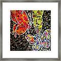 Whimsical Painting- Colorful Butterflies Framed Print