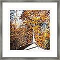 White Church In Autumn Framed Print