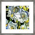 White Flower Spendor Framed Print