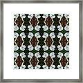 White Geranium Pattern Framed Print