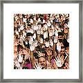 White Hands  - Manos Blancas Framed Print