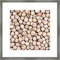 White Peppercorn Background Framed Print