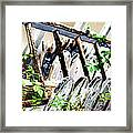 White Picket Fence Framed Print