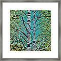White Trees Framed Print