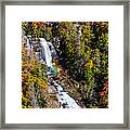 Whitewater Falls With Rainbow Framed Print