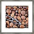 Whole Nuts In A Basket Framed Print