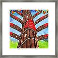Why Pick On Me Guitar Abstract Tree Framed Print