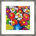 Wild Colorful Flowers Framed Print