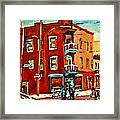 Wilenskys Hockey Art Paintings Originals Commissions Prints Montreal Deps Street Art Carole Spandau  Framed Print