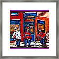 Wilenskys Hockey Art Posters Prints Cards Originals Commission Montreal Paintings Contact C Spandau Framed Print