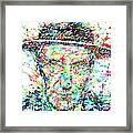 William Burroughs Watercolor Portrait Framed Print