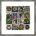 Williamsburg Christmas Collage Squared 2 Framed Print