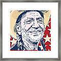 Willie Nelson Pop Art Framed Print by Jim Zahniser